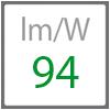 Skuteczność świetlna - ilość lumenów z jednego W